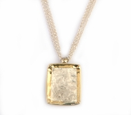 Silver and gold necklace designer brushed jewelry