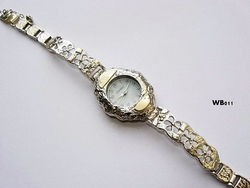 Silver and gold watch handcrafted in Israel