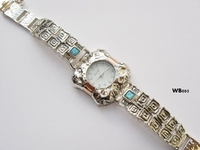 Silver and gold watch handmade in Israel