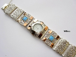 Silver and gold watch - Israeli designer jewelry