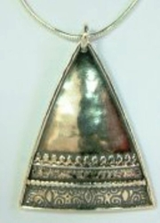 Silver ethnic necklace