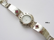 Silver & gold watch Mayota Japanese movement