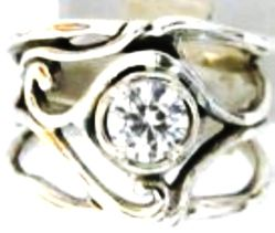 Silver jewelry | cz ring | sterling silver ring