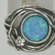 Silver jewelry   Opal ring