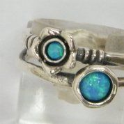 Silver Jewelry | Opals ring
