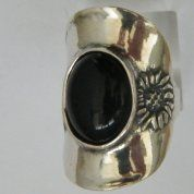 Silver jewelry |silver ring |onyx ring |Boho design