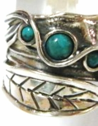 Silver jewelry steling silver 925 turquoise ring