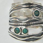 Silver jewelry turquoise silver ring
