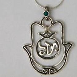 Silver Mazel Luck Necklace