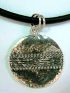 Silver necklace ethnic design