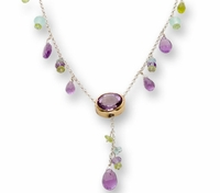 Silver necklace gold necklace gemstones charms
