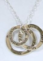 Sterling silver necklace: Love, Hope, Life Valentine Gift