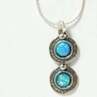 Silver opals Necklace designer jewellery