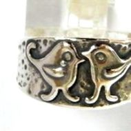 Silver ring handcrafted