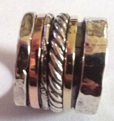 Silver ring silver & gold ring celtic ring