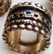 Silver ring spinning ring Israeli design