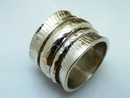 Silver ring swivel made in Israel