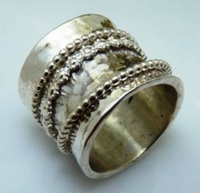 Silver spinning ring israeli jewelry