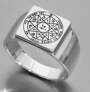 Solomon seal silver ring Guarding & protection Seal