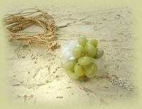 Sphere moonstone and jade necklace