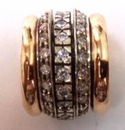 Spinner ring ! cz ring ! cocktail ring