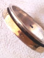 Spinner ring delicate silver and gold