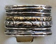 Spinner ring silver and gold Israeli jewelry
