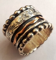 Spinner ring silver & gold