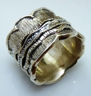 Spinner ring unisex sterling silver