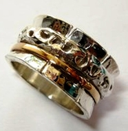 Spinner ring women and mens jewelry