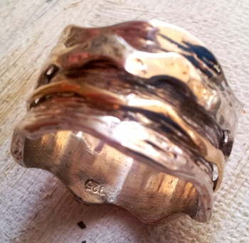 Spinner ring designer bands
