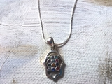 Hand necklace hamsa with hoshen design