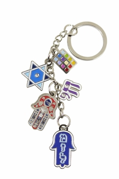 Key Holder with Luck charms Hamsa