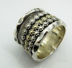 Spinner Ring Floral Bands Women Jewelry
