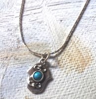 Hamsa hand sterling silver set with blue opal necklace