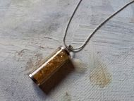 Citrine in Silver Pendant
