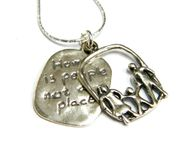 Scripture necklace pendant Home & Family Necklace