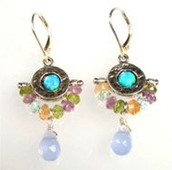 Sterling silver & Gemstones earrings