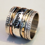 Spinner ring, Hebrew Blessing ring, Hebrew Prayer ring