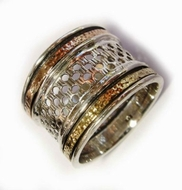 Spinning ring designer jewellery