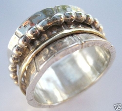 Spinning Ring rose 9 KT gold made in Israel jewelry