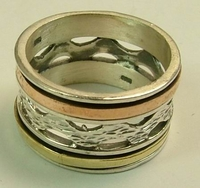 Spinning ring silver and gold
