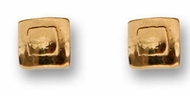 Square designer stud gold earrings 9 carat