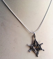 Star of David necklace sterling silver pendant silver necklace