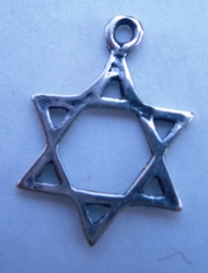 Star of David pendant made in Israel 1.2 cm