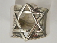 Star of David sterling silver 925 ring - Israeli ring