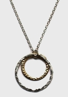 Sterling silver 925 and goldfilled necklace