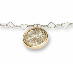Sterling silver and 9KT gold necklace