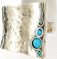 Sterling silver blue opal stones native America inspired rings collection