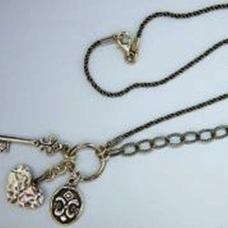Sterling silver charms necklace